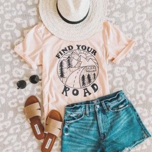 Figleaffashion Tops - ARRIVED! Find Your Road Graphic Tee